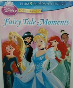 Disney-Princess-Poster-A-Page-Fairy-Tale-Moments-Belle-Ariel-Jasmine-Tiana