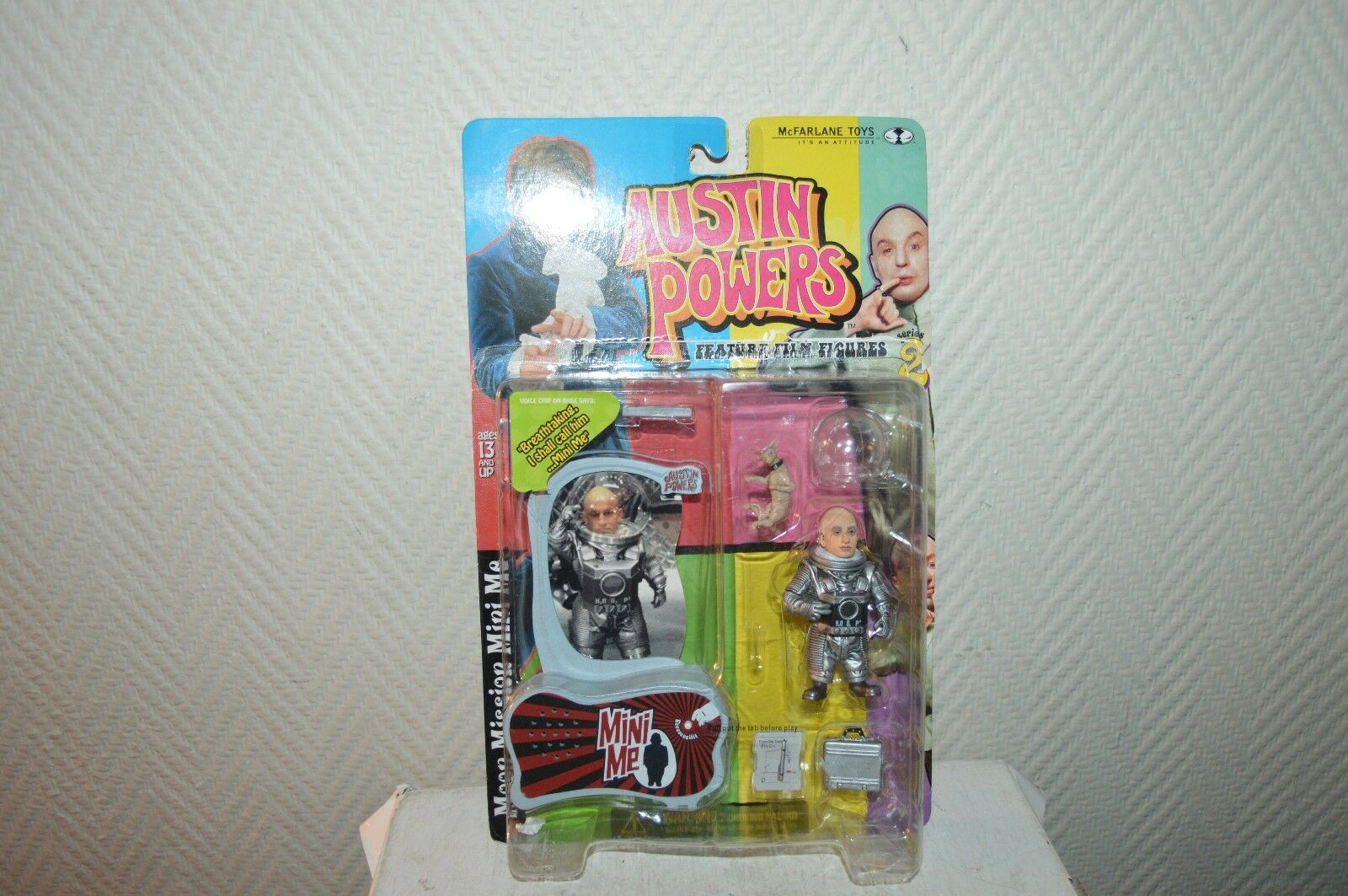 AUSTIN POWER S 2 Figure TALK MOON MISSION MINI ME MOI  Mc Farlane Figurine 1999