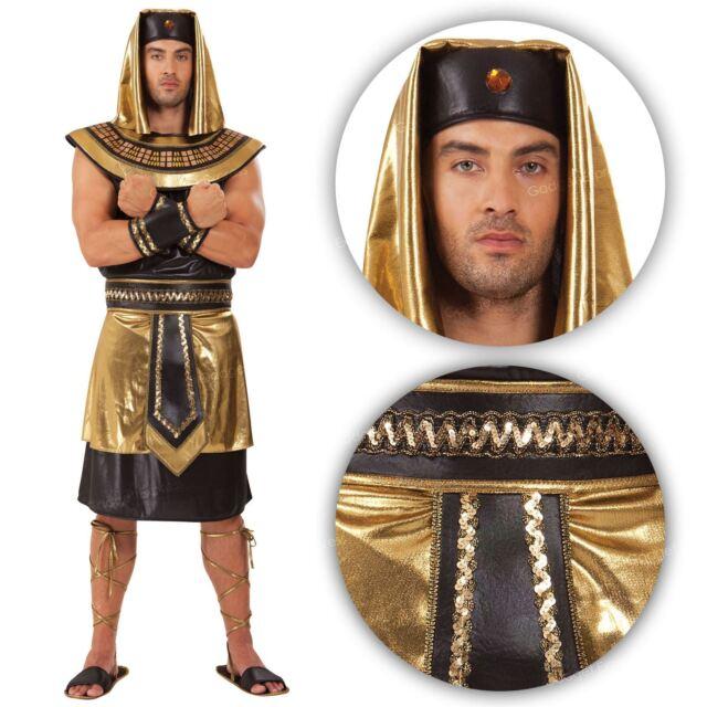 Adulto Costume da Faraone Egiziano antico Greco Da Uomo Costume Vestito standard