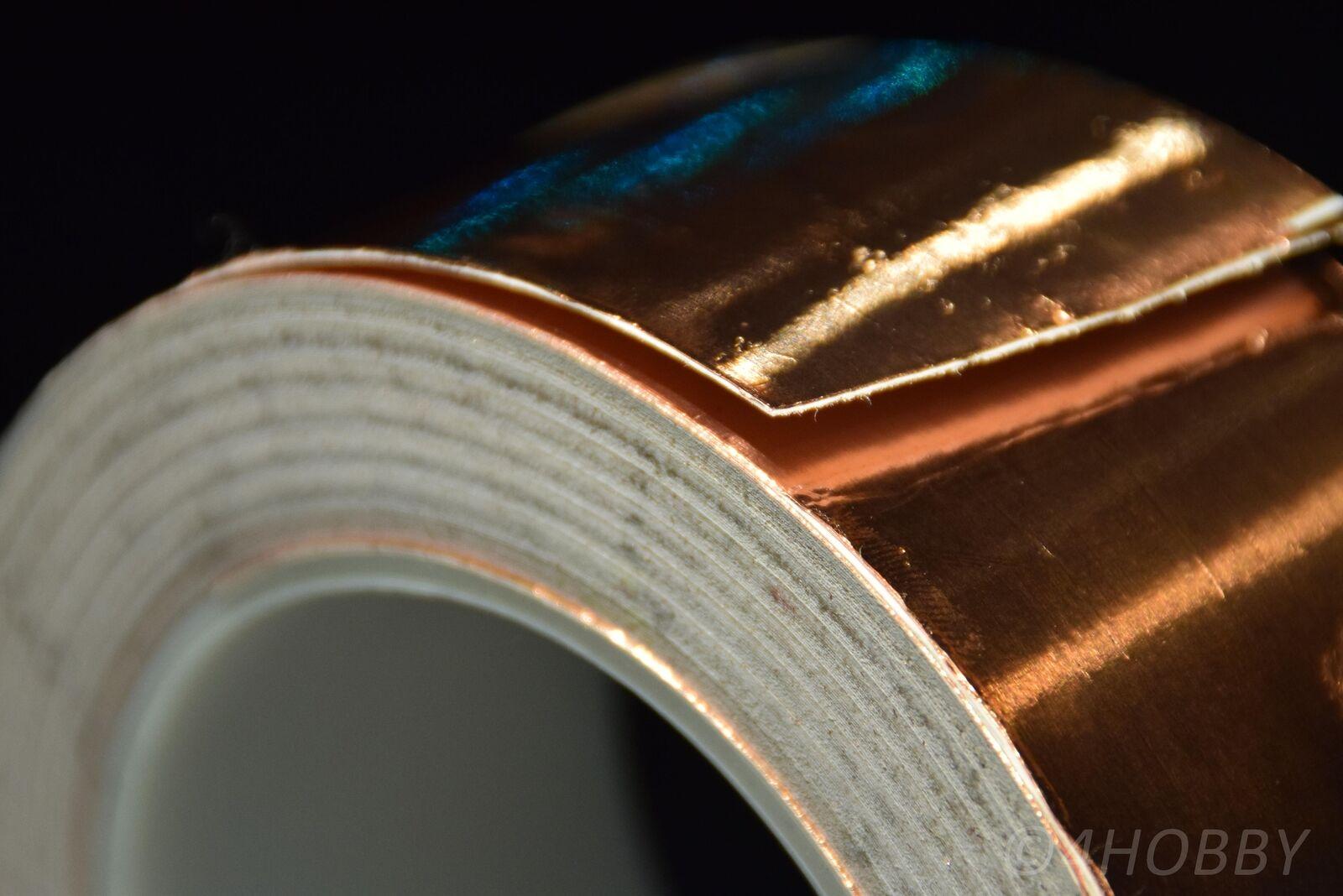 Kupferband 30m 50mm Breit selbstklebend Band aus Kupfer für Gitarren, Modellbau