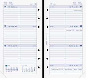 Brunnen 2021 Wochenkalendarium 1074903001 A6 9,3x17,2cm Modell Filius Ersatzkale