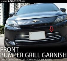 2013 2014 2015 TOYOTA HARRIER FRONT BUMPER CHROME GRILLE GRILL LOWER GARNISH