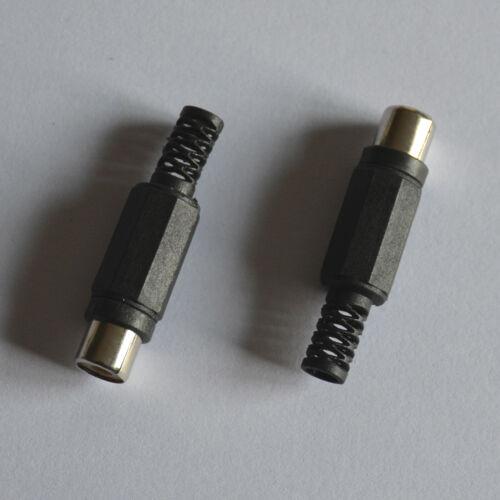 30x RCA Phono Female Jack Plug Solder Type Audio Video Cable Connector Black DIY