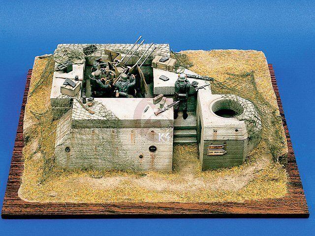 Verlinden 54mm (1 35) Atlantic Wall German FlaK Emplacement WWII 113 (MDA35102)