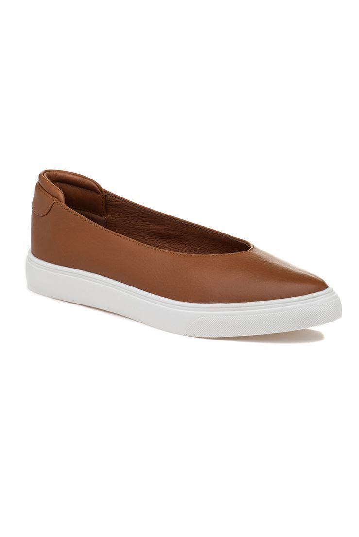 Jslides - Gwen Leather Sneakers - Tan - 11