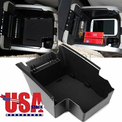 For Ford Escape 2013-2016 Armrest Storage Box Center Console Tray BLACK