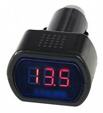 LED CAR VAN 12v 24v BATTERY VOLT VOLTAGE METER MONITOR GAUGE CIGAR LIGHTER PLUG