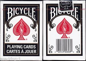 1-Deck-Bicycle-BLACK-RIDER-BACK-Playing-Cards-standard-face