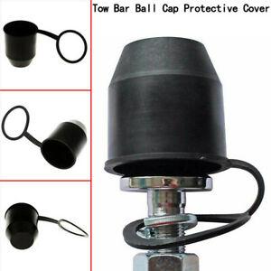 1X-PVC-Black-Tow-Bar-Ball-Towball-Cover-Cap-Towing-Hitch-Trailer-Protection-DE