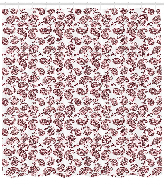 Paisley Shower Curtain Fabric Bathroom Decor Set With Hooks 4 Grosses 43ab73