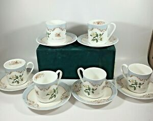 Queen's Royal Horticultural Society Redoute's Roses China Demitasse 6 Cup Saucer