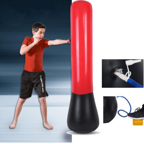 Standboxsack Boxsack Aufblasbar Boxtraining Punching Bag Dummy mit Luftpumpe DE