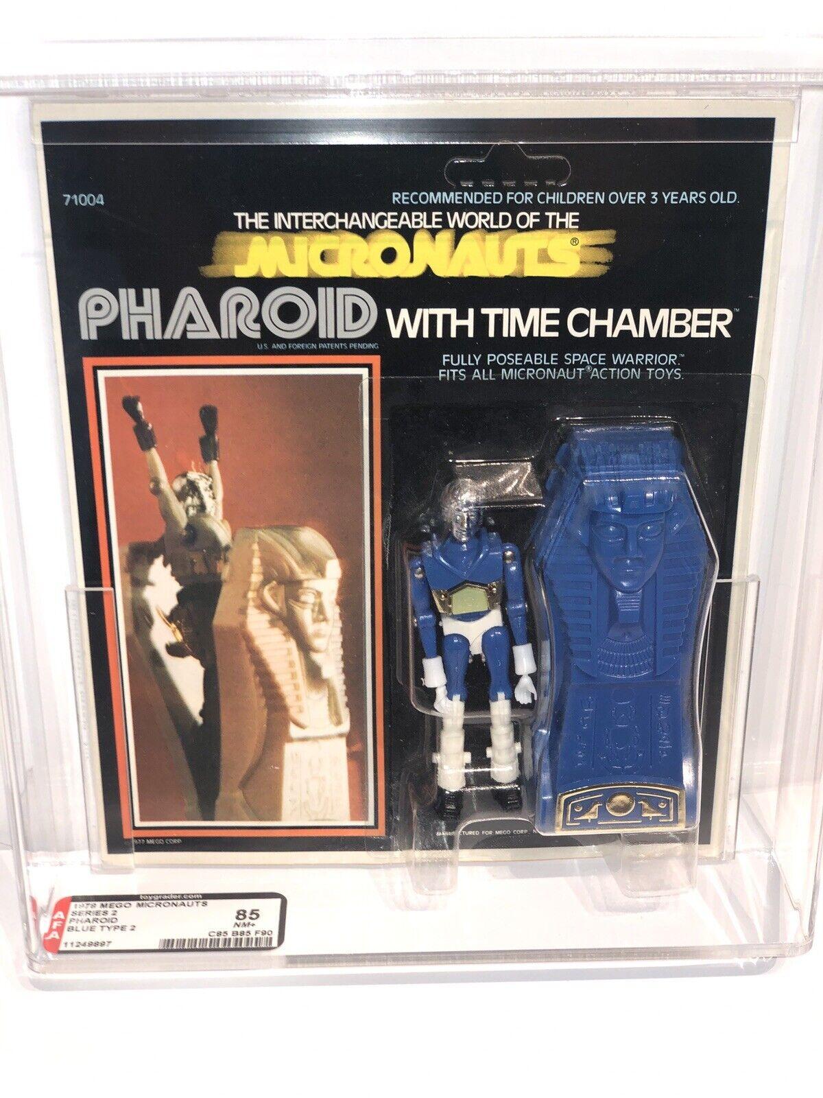 Action Figure Authority 85 Mego Micronauts 1977 bleu pharoid avec le temps chambre non perforé 85-85-90 Near Comme neuf +