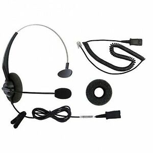 dailyheadset rj9 corded phone headset for most mon home Wireless Home Phone with Headset stock photo