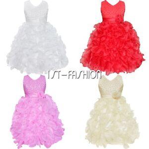 Fille-Bebe-Princesse-Robe-Tenue-de-Soiree-Mariage-Bapteme-Ceremonie-Costume-Neuf