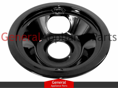 """GE General Electric Cooktop 6/"""" Black Porcelain Burner Drip Pan Bowl WB32X5070"""