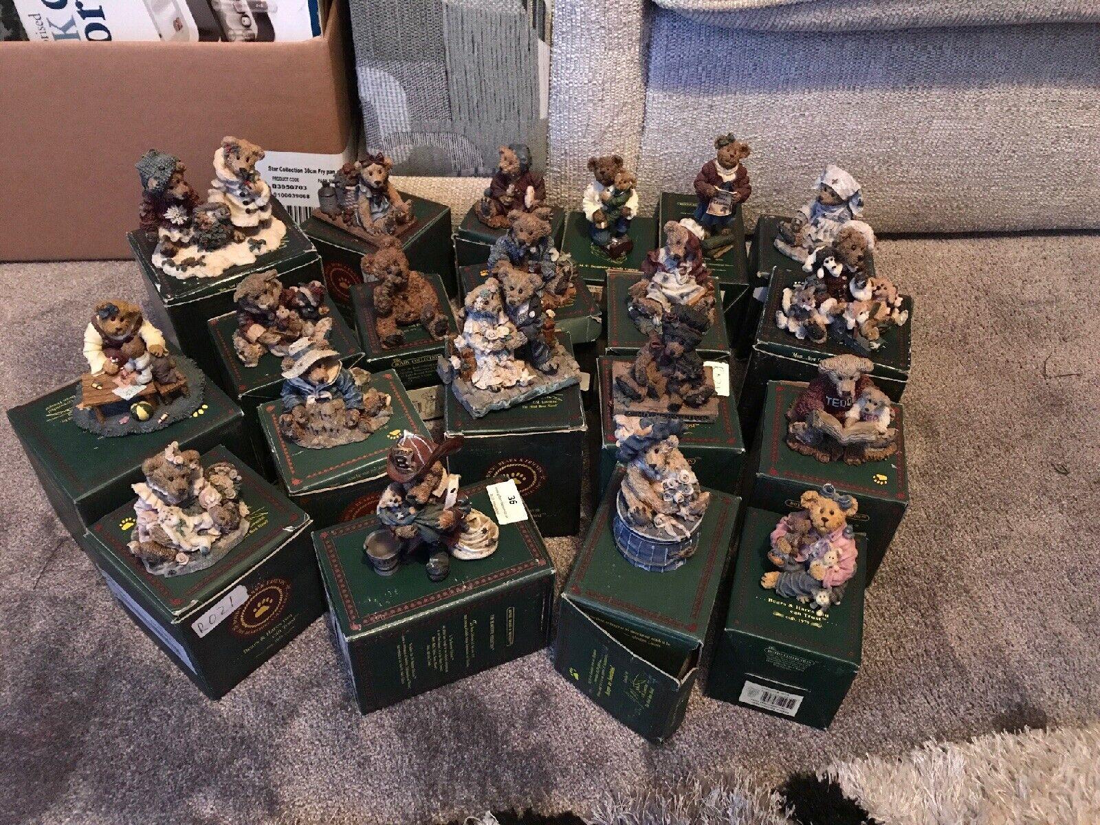 Boyds Teddy Bear figurine Sammlung 20 Boxed