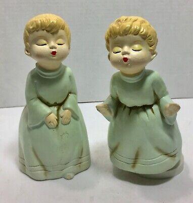 Kissing Angels Boy /& Girl Angel Musical Figurine Vintage 1982 Mann Music Box