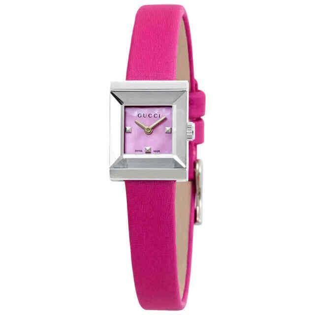 b322d74180a Gucci G-frame Square Case Fuchsia MOP Dial Women s Watch YA128533 ...
