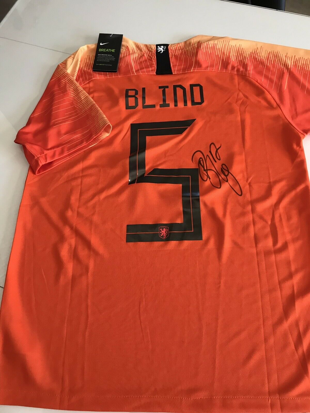Maillot Footbtutti Hollee Daley Blind  Signé Avec COA Ajax uomochester United