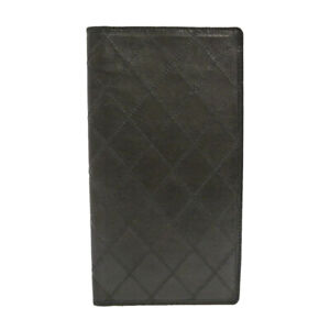 Authentic CHANEL Vintage Quilted Bifold Black Leather #S308075
