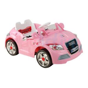Childrens Pink Audi Electric Car