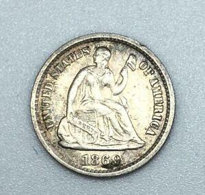 1869-S-Seated-Half-Dime-XF-AU