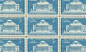 1954 - COLUMBIA UNIVERSITY - #1029 Full Mint -MNH- Sheet of 50 Postage Stamps