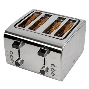 827520ac96d Igenix IG3204 4-Slice Toaster - Brushed   Polished Stainless Steel ...