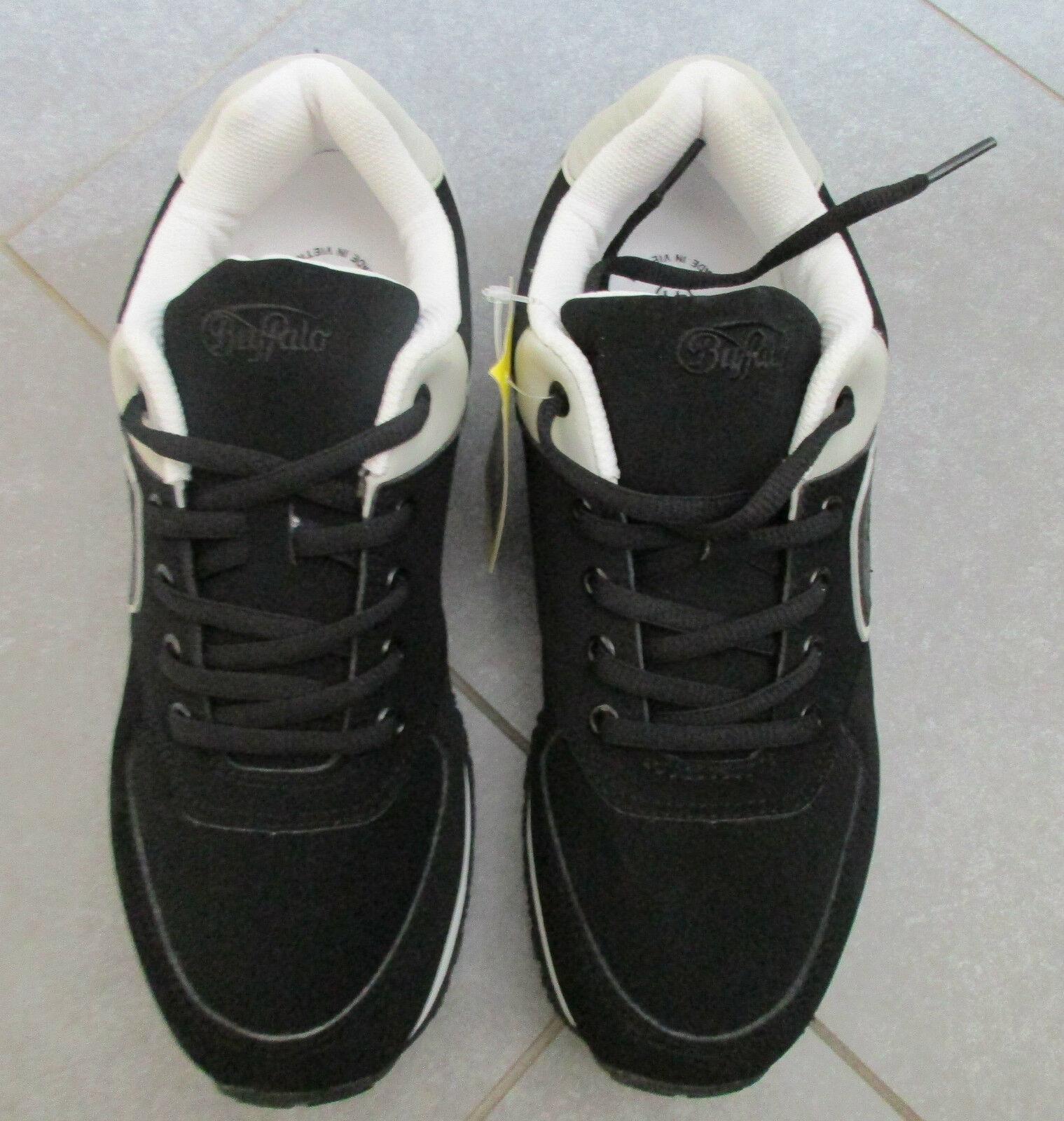 Buffalo Schuhe Schnürschuhe Sneaker sportlich schwarz weiß Gr. 41 Sportschuh