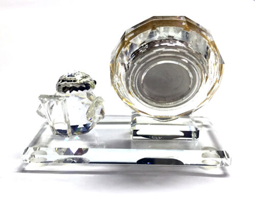 "Austrian Crystal /""Delicate Desk Clock/"" SPECIAL OFFER"