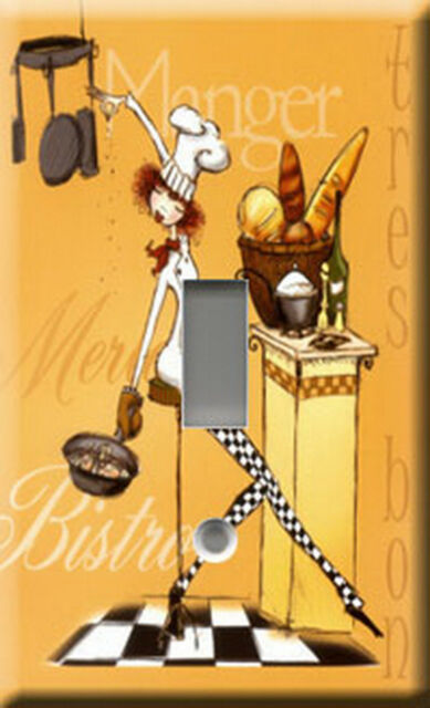 Single Light Switch Plate Cover - Sassy Chef 3