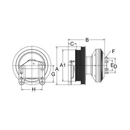 79A9334 Horton Fan Clutch for Cat C15 and C16 Acert Engine on c15 caterpillar engine belts, c15 acert engine sensors, c15 acert actuator solenoid, c15 engine cooling system, cat ecm pin wiring diagram, c15 acert engine diagram, c15 cat engine, cat c12 timing marks diagram, caterpillar c15 engine diagram, c15 caterpillar engine parts breakdown,
