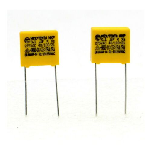 Tenta 2x Condensateurs MKP MEX-X2 100nf 0.1uF P:10mm 275V 226con492