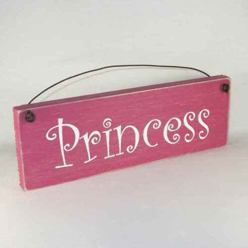 PRINCESS Sign rustic farmhouse shabby country assorted colors