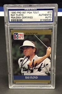 Ray Floyd Signed 1990 Pro Set PGA Tour Slabbed Card - PSA/DNA # 91996565