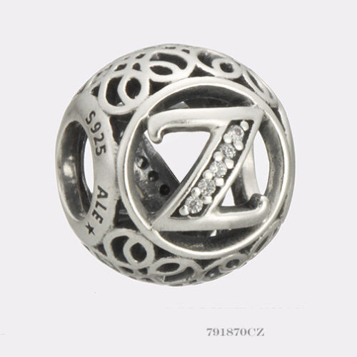 Authentic Pandora Charm Letter Z  791870cz P
