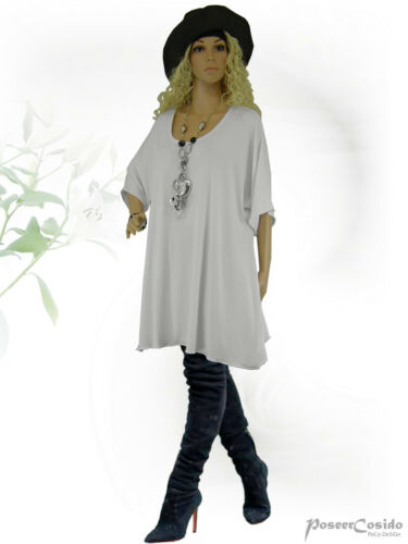 PoCo DeSiGn LAGENLOOK Long-Shirt Tunika weiß L-XL-XXL-XXXL 44 46 48 50 52 56 58