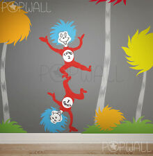 Dr Seuss Thing 1 Thing 2 Tumbling wall decal sticker for nursery playroom kids