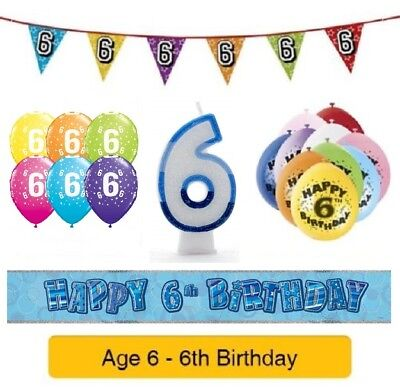 Felice 6th Compleanno Età 6 Festa Palloncini Striscioni Distintivi & Decorazioni Elio Boy-mostra Il Titolo Originale