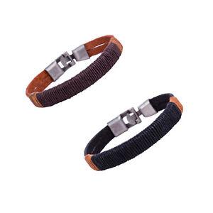 Surfer-Men-039-s-Unisex-Hemp-Wrap-Leather-Wristband-Bracelet-Cuff-Black-Brown-Bangle