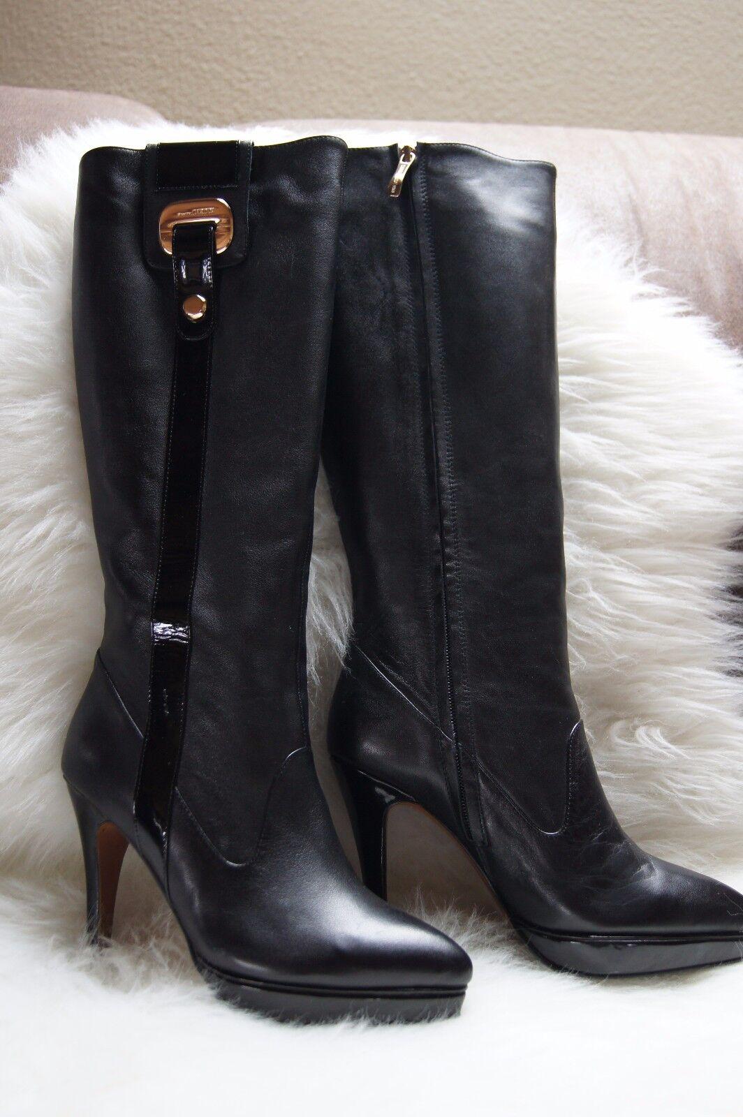 Damen Stiefel Pierre Cardin Gr. 37 schwarz WOW Extrem Extravagant
