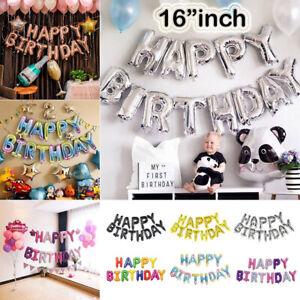 Joyeux-Anniversaire-16-034-pouces-autogonflant-Ballon-banniere-Bunting-party-grand-baloons
