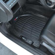 3pc Set Flextough Rubber Auto Floor Mats Black Heavy Duty Deep Channels For Car Fits 2003 Honda Pilot
