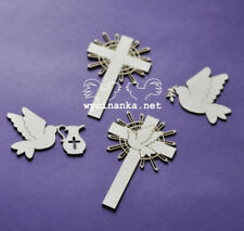 Chalice /& Host First Communion Ornaments Chipboard Shapes 3 Pack Cardmaking S...