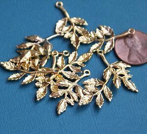 Bulk 100 pcs gold plated leaves charms alloy leaves pendant ebay image is loading bulk 100 pcs gold plated leaves charms alloy aloadofball Image collections