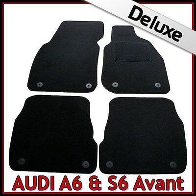 Audi A6 Avant Estate C6 2005-2011 380mm Tailored Carpet Car Mats BLACK