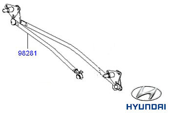 Genuine hyundai terracan essuie-glace linkage mechanism 98210H1100