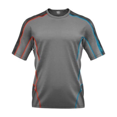 Crazy Idea Ampere T Shirt Men  leichtes Funktionsshirt für Herren  grau