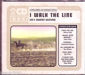 I-Walk-the-Line-50s-Country-Western-2CD-Classic-Great-DON-GIBSON-RAY-PRICE